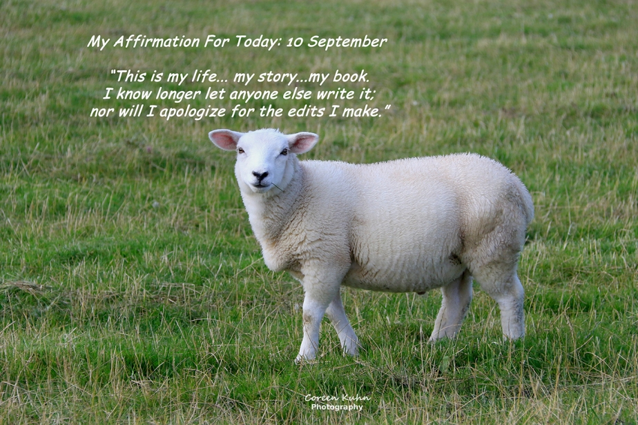My Affirmation for today: 10 September