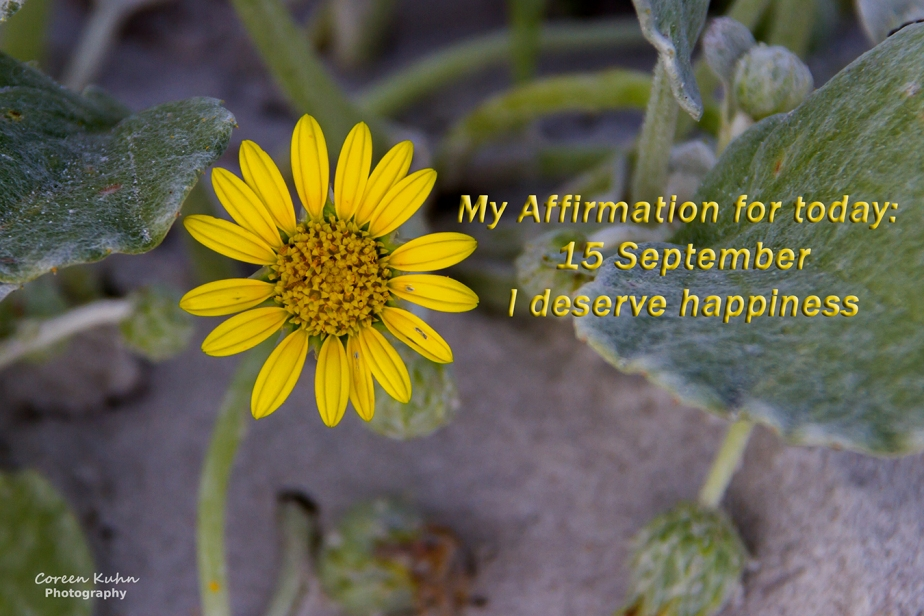 My Affirmation for today: 15 September