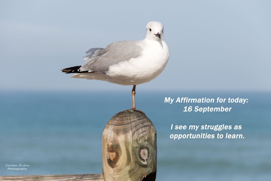My Affirmation for today: 16 September