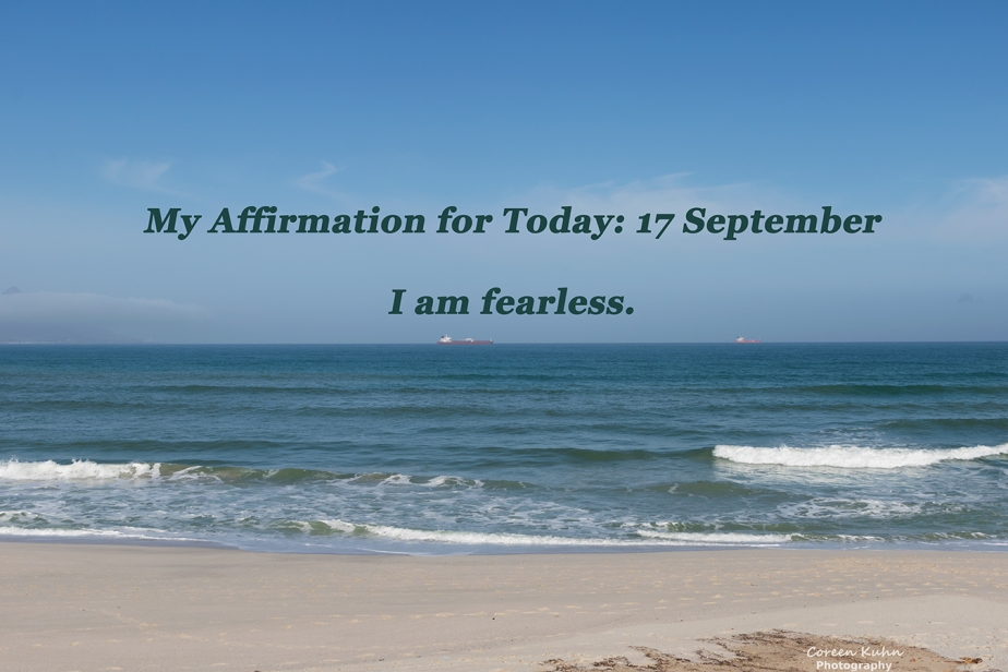 My Affirmation for today: 17 September