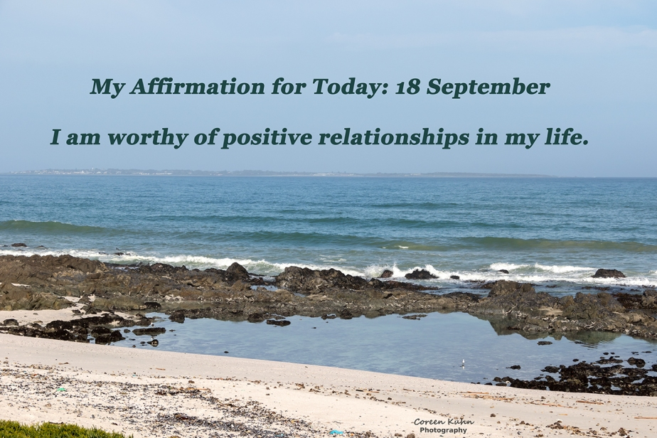 My Affirmation for today: 18 September