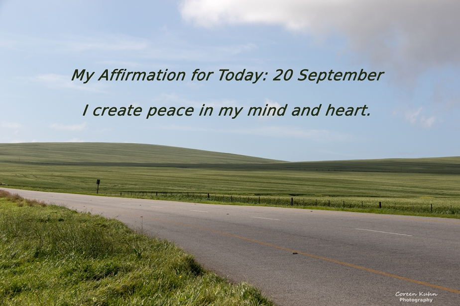 My Affirmation for today: 20 September