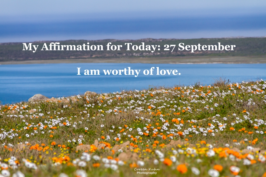 My Affirmation for today: 27 September