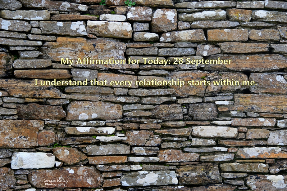 My Affirmation for today: 28September