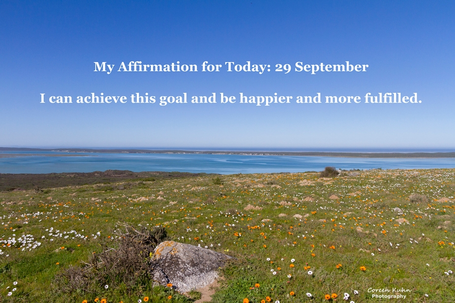 My Affirmation for today: 29September