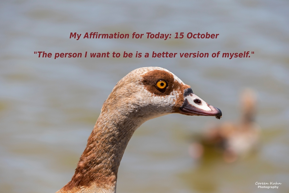 My Affirmation for Today: 15October