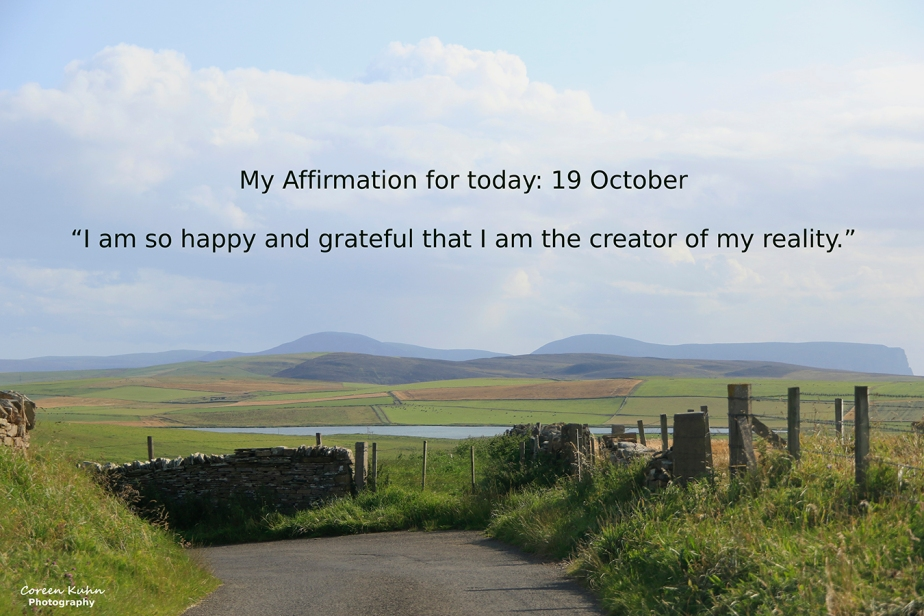 My Affirmation for Today: 19 October