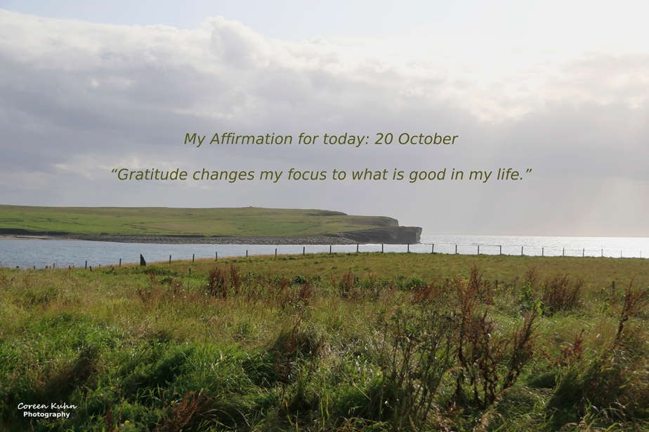 My Affirmation for Today: 20 October