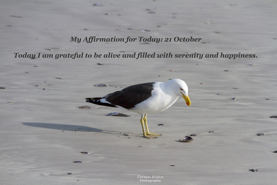 My Affirmation for Today: 21 October