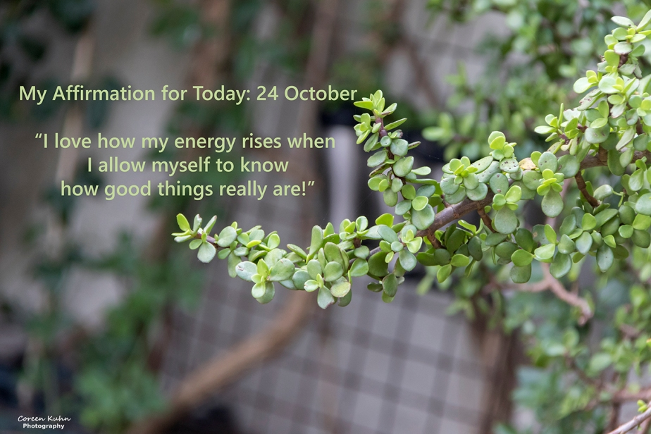 My Affirmation for Today: 24 October