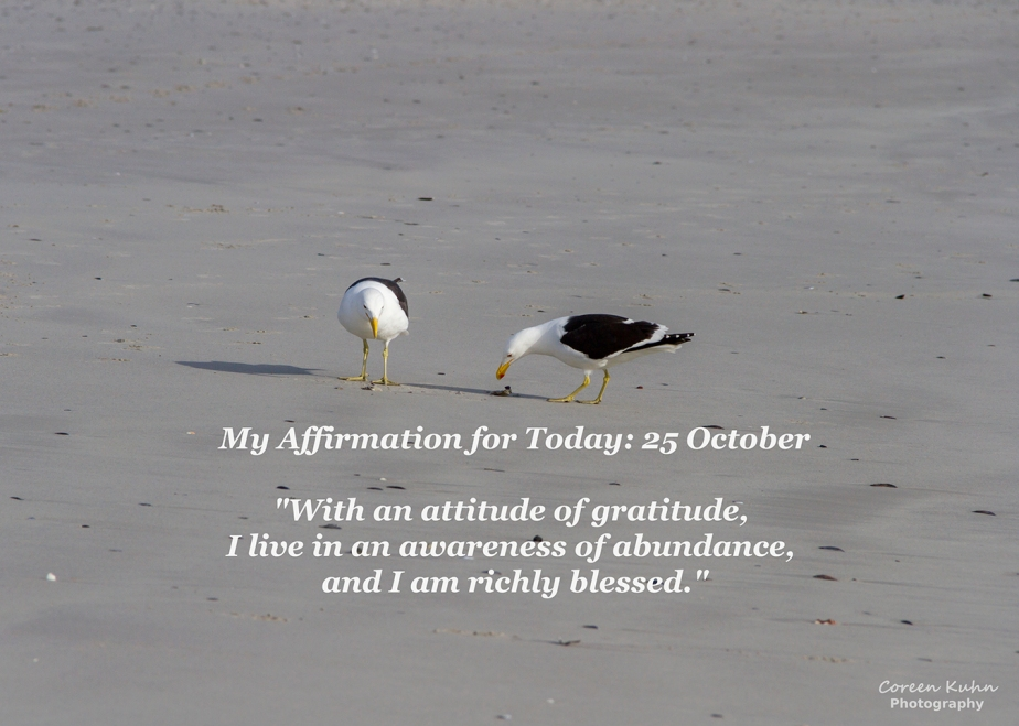 My Affirmation for Today: 25 October