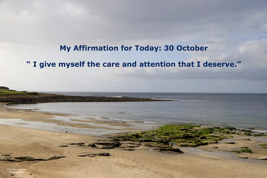 My Affirmation for Today: 30 October