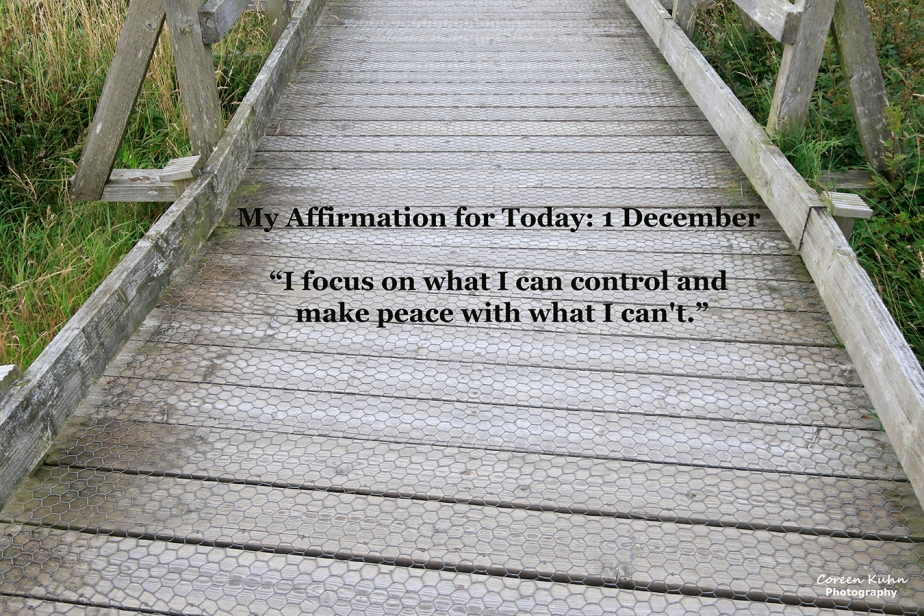 My Affirmation for Today: 1 December
