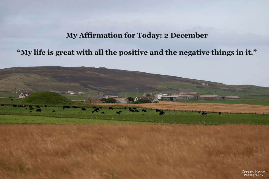 My Affirmation for Today: 2 December