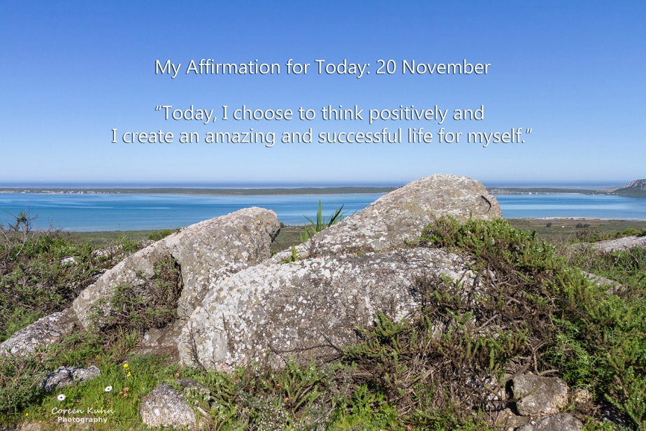 My Affirmation for Today: 20 November
