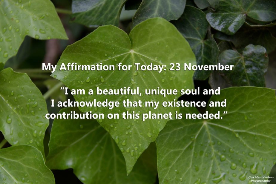 My Affirmation for Today: 23 November