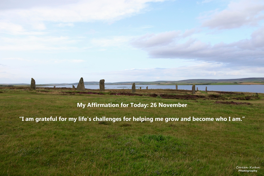 My Affirmation for Today: 26 November