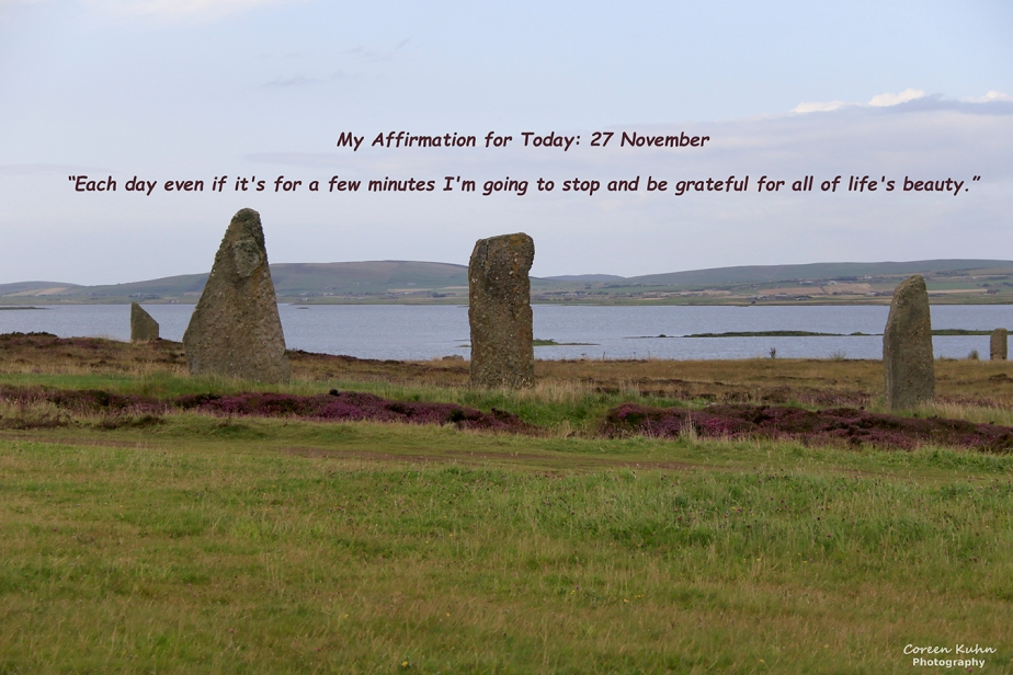My Affirmation for Today: 27 November