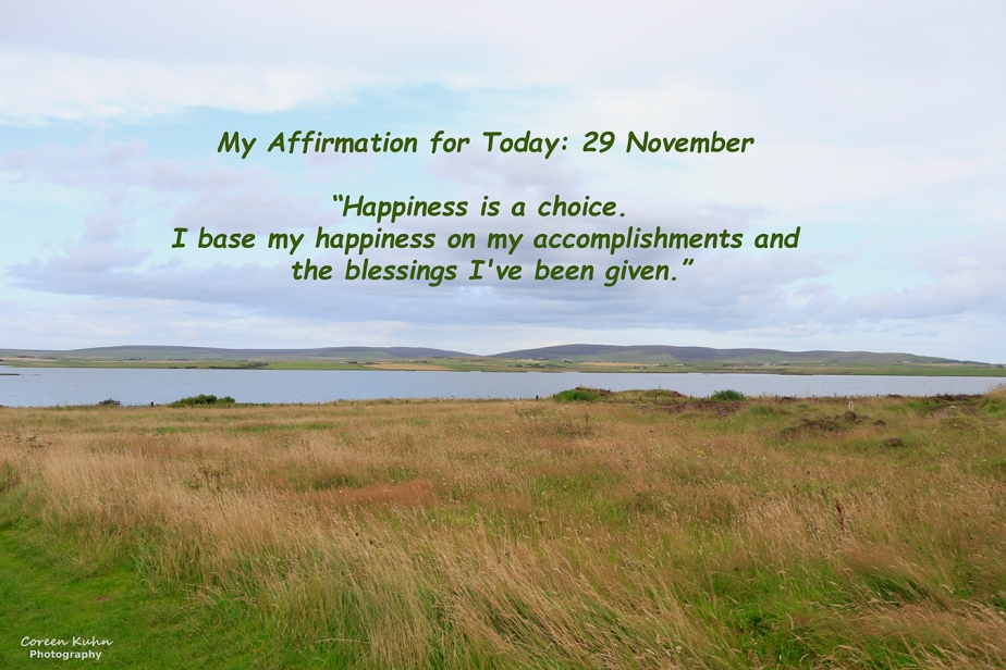 My Affirmation for Today: 29 November