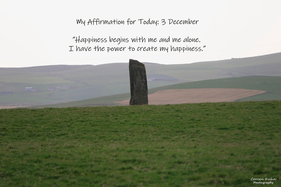 My Affirmation for Today: 3 December
