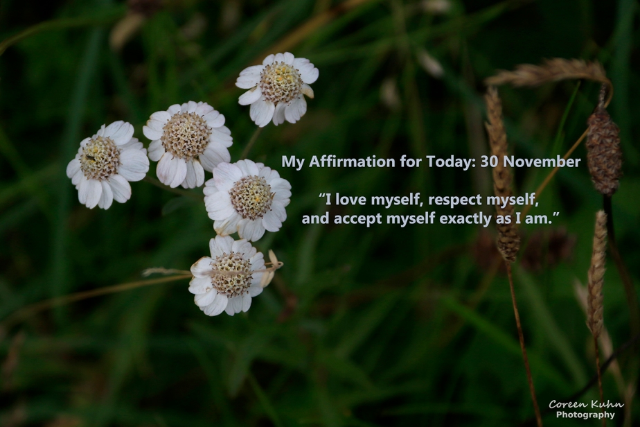 My Affirmation for Today: 30 November