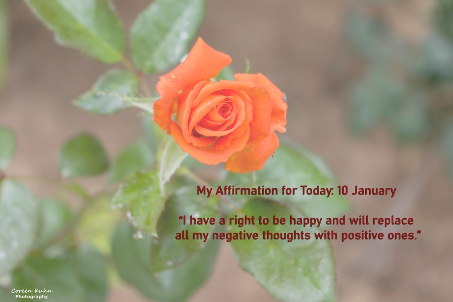 My Affirmation for Today: 10 January