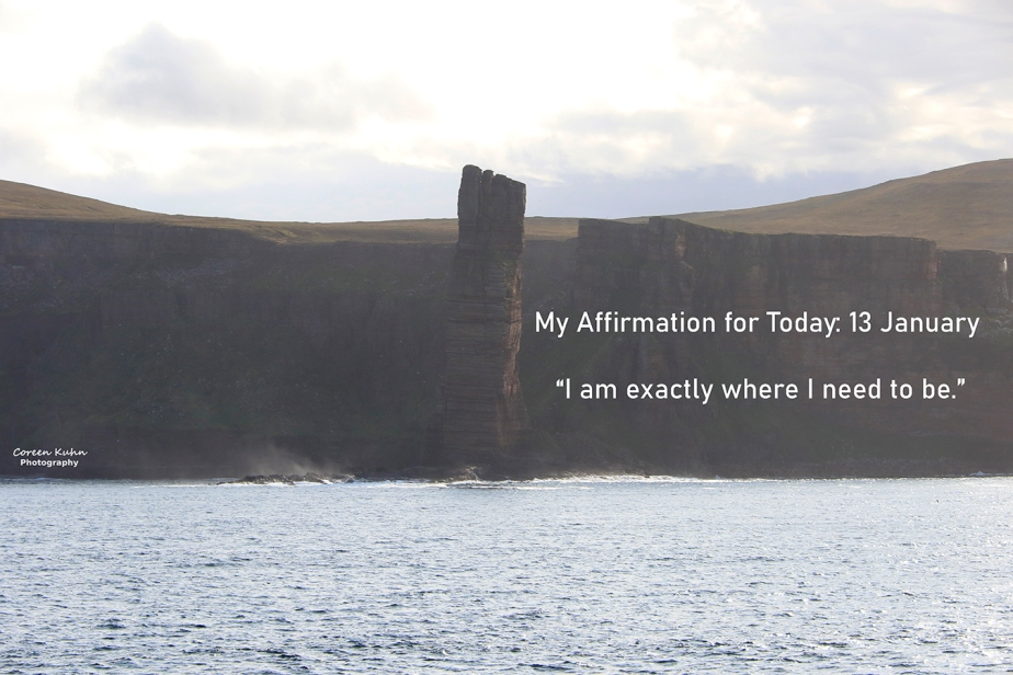 My Affirmation for Today: 13 January