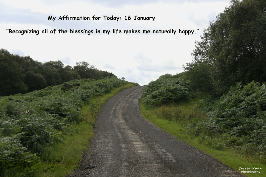My Affirmation for Today: 16 January
