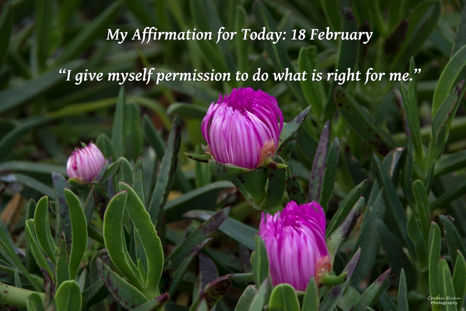 My Affirmation for Today: 18February