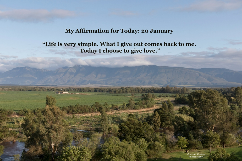 My Affirmation for Today: 20 January