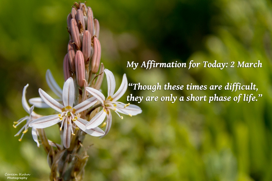My Affirmation for Today: 2March