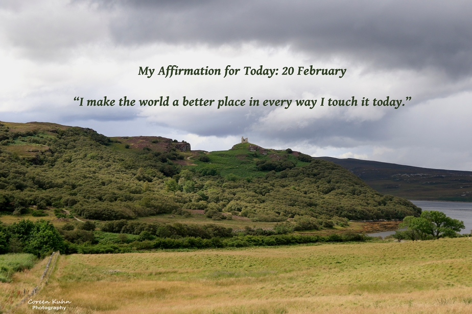 My Affirmation for Today: 20February