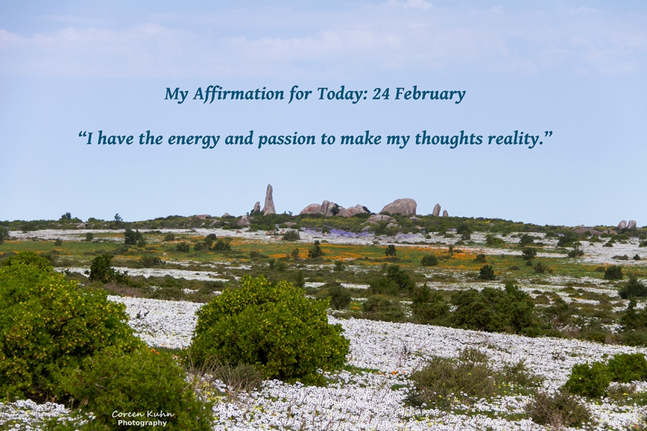 My Affirmation for Today: 24February