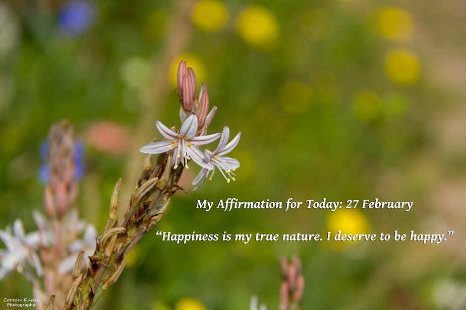 My Affirmation for Today: 27 February