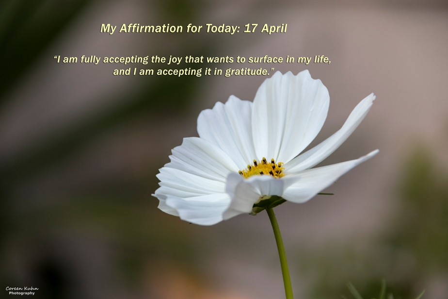My Affirmation for Today: 17April