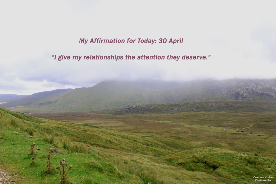My Affirmation for Today: 30April