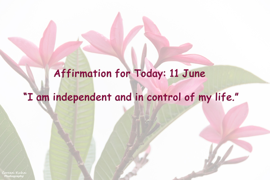 Affirmation for Today: 11 June2021