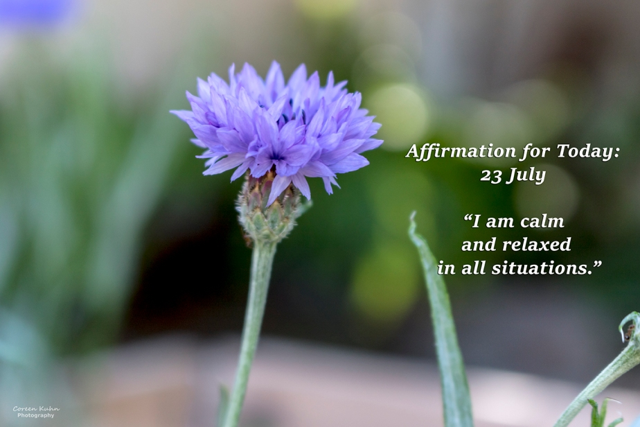 Affirmation for Today: 23 July2021