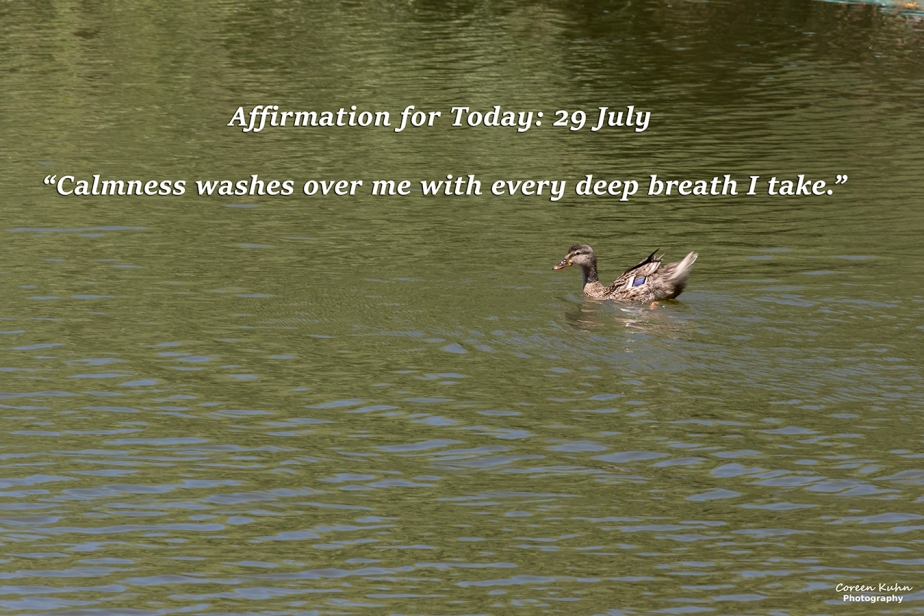 Affirmation for Today: 29 July2021
