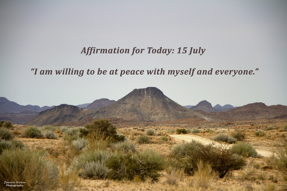 Affirmation for Today: 15 July2021