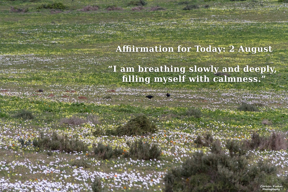 Affirmation for Today: 2 August2021