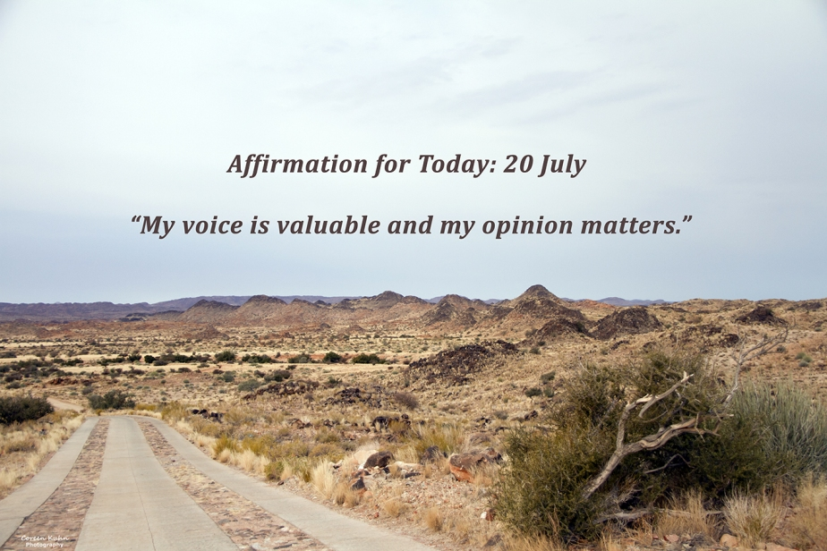 Affirmation for Today: 20 July2021