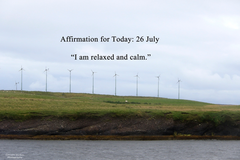 Affirmation for Today: 26 July2021