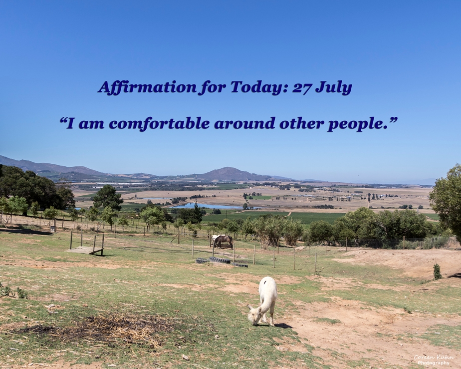 Affirmation for Today: 27 July2021