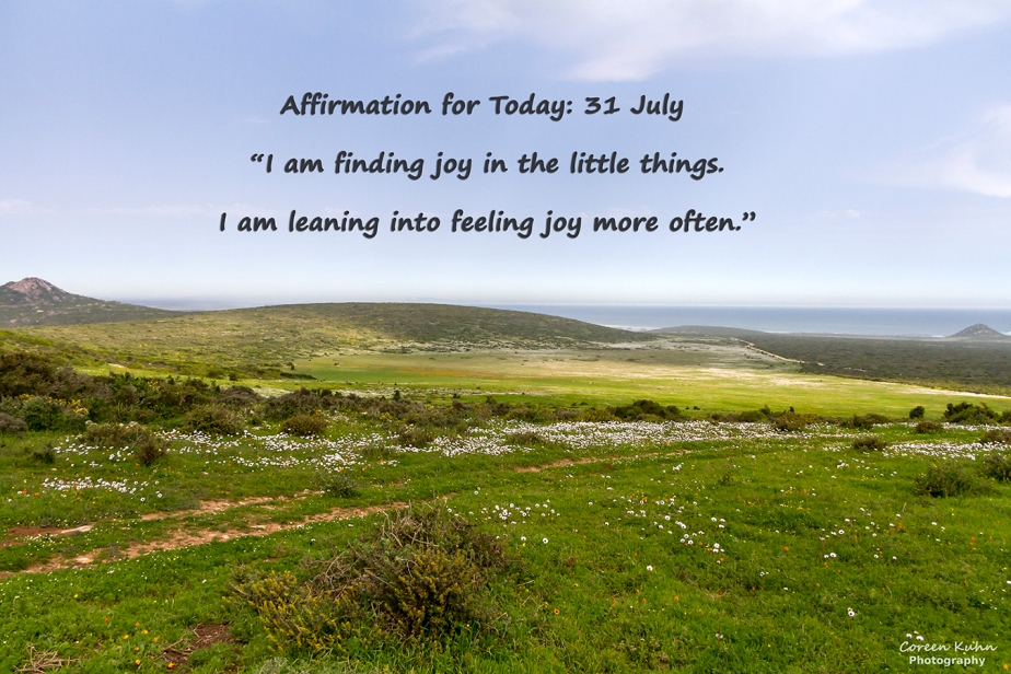 Affirmation for Today: 31 July2021