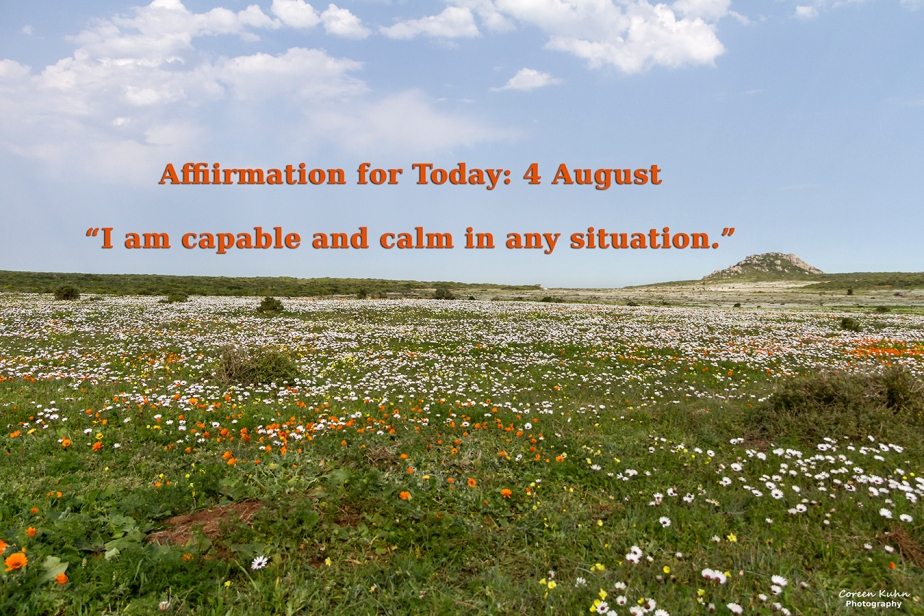 Affirmation for Today: 4 August2021
