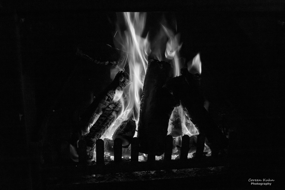 Black and White Photography: Flames#1