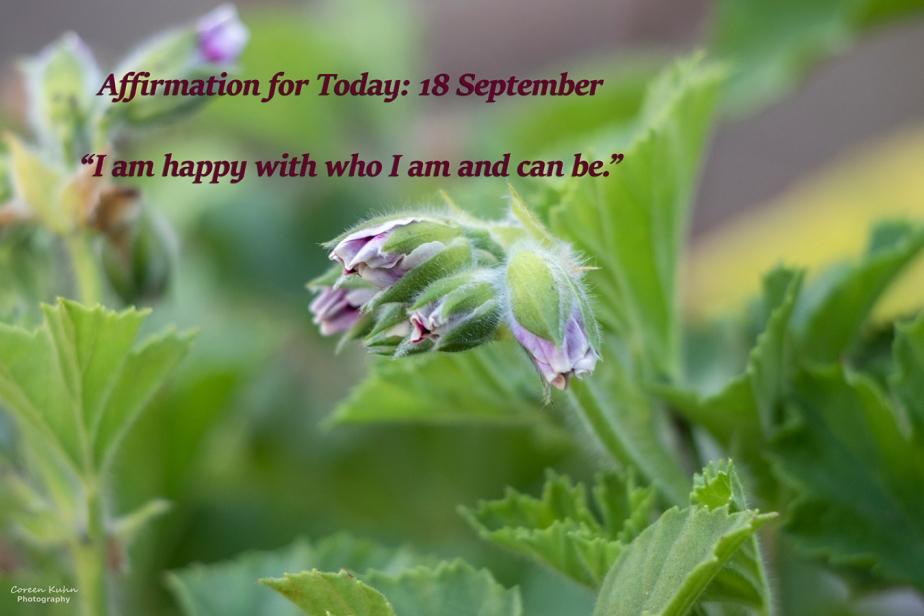 Affirmation for Today: 18 September2021