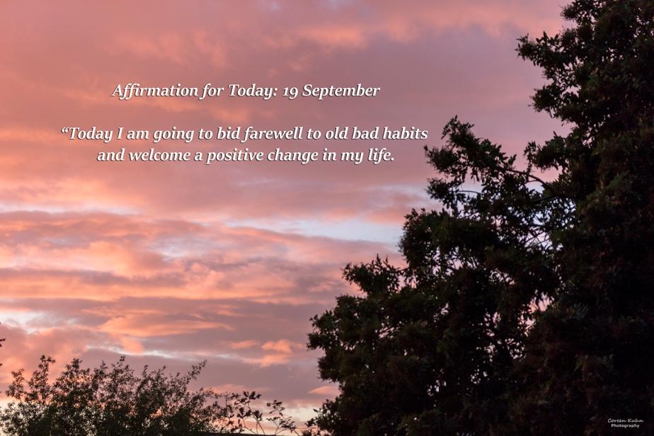 Affirmation for Today: 19 September2021
