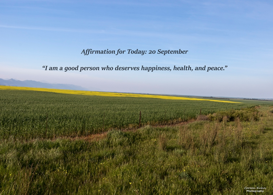 Affirmation for Today: 20 September2021